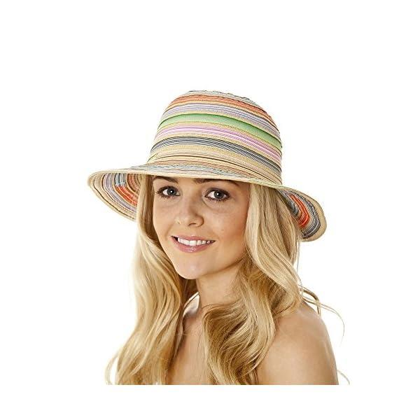 i-Smalls New Season for 2019 Ladies Narrow Brim Ribbon Braid Fashion Sun Hat