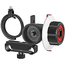 Neewer Follow Focus avec Gear Ring Belt pour Canon Nikon Sony et d'autres appareil photo reflex numérique caméscope DV vidéo Compatible avec tige 15mm film Making Système, support d'épaule, Stabilisateur, film, Rig (Rouge + Noir)