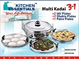 #4: Kitchen Essentials Induction Steamer Cooker Kadai(2idli,2Dhokla,1PatraPlate)