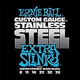 Ernie Ball 2249 Jeu de cordes 8-38 Extra Slinky Stainless Steel