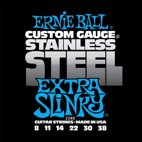 Ernie Ball 2249 - Jeu de cordes guitare électrique - Stainless Steel - Extra Sl
