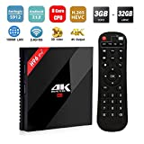 H96 Pro Plus Android 7.1 TV Box 3 GB RAM + 32 GB ROM, Amlogic 912 Octo-Core 64 Bits Smart TV Box, Unterstützung Dual WiFi 2,4 GHz / 5 GHz / Bluetooth 4.1