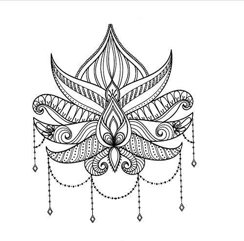 ruofengpuzi Lotus Waterproof Tattoo Herren Fake Tattoo Beauty Flower Tattoo Aufkleber Verwickelt Eine Gruppe Von Tätowierungen S Temporäre Wasserdicht (Gruppe Alkohol Halloween Kostüme)