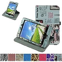 Acer Iconia One 8 B1-810 Rotación Funda,Mama Mouth 360° Rotación PU Cuero Con Soporte Funda Caso Case para Acer Iconia One 8 B1-810 Tablet,periódico