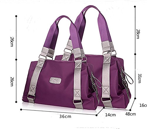 LINGE-In nylon Ladies borsa a tracolla borsa , blue trumpet purple large