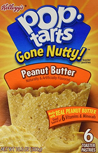 Kelloggs Pop-Tarts Gone Nutty! Peanut Butter 6 Pastries (Nutty Peanut Butter)