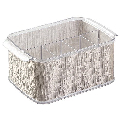InterDesign Twillo Cutlery Caddy, Metallic/Clear