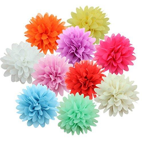 HABI 10 stk Chiffon Blume Cluster Haarspangen Alligator Haar Barrettes Clip für Kinder Mädchen ()