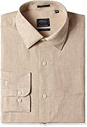 Arrow Mens Formal Shirt (8907378742728_ARES0800A_40_Beige)