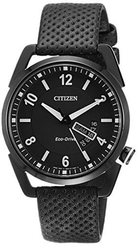 Citizen Herren-Armbanduhr Analog Quarz Leder AW0015-08EE