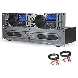 GEMINI CDX-2250i Double Lecteur CD MP3 / CD AUDIO/USB + Câbles