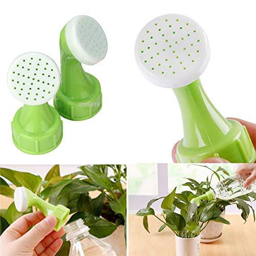 WEREWTR 2Pcs Garten Spray Waterer Sprinkler Portable Anlage Gartenbewässerung Düsenwerkzeug für Fast von offenen Flaschen, Wasserstrahlkopf ohne Wasserleitung verwendet -