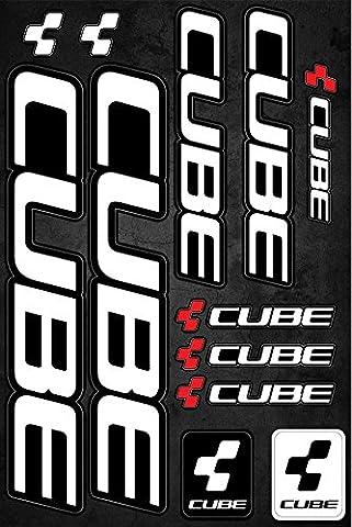 Cube Fahrradrahmen Aufkleber Aufkleber Grafik Set Vinyl Adesivi