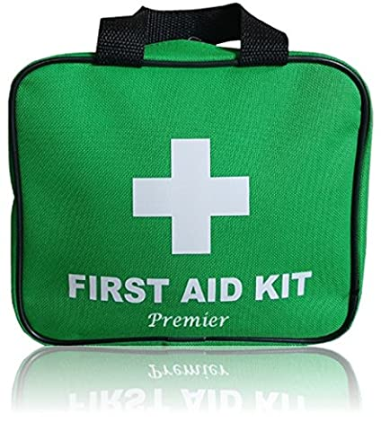170 Piece Premier First Aid Kit. Packed with bandages, plasters, sting relief pads, antiseptic wipes, ice pack, emergency blanket, scissors, tweezers and much more! Sturdy storage bag. FREE First aid guide