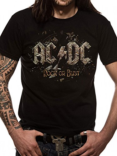T-Shirt (Uomo-Xxl)  Rock Or Bust   New Release January