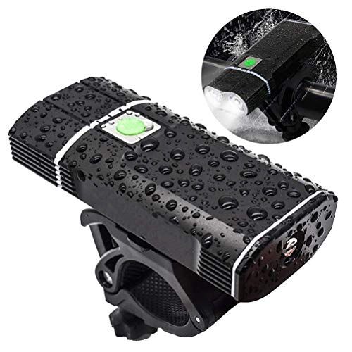 ZGYQGOO USB wiederaufladbare Fahrradbeleuchtung vorne, 2400 Lumen LED Fahrradbeleuchtung Upgrade Aluminiumlegierung vorne Fahrradbeleuchtung Basis