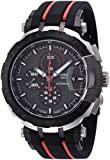 Tissot Men's Rubber Band Steel Case Automatic Black Dial Analog Watch T0924272706100