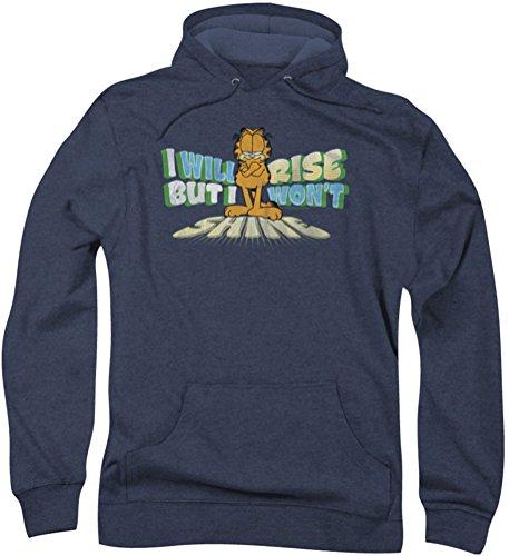 Garfield-non Rise Shine-Felpa con cappuccio da uomo blu navy