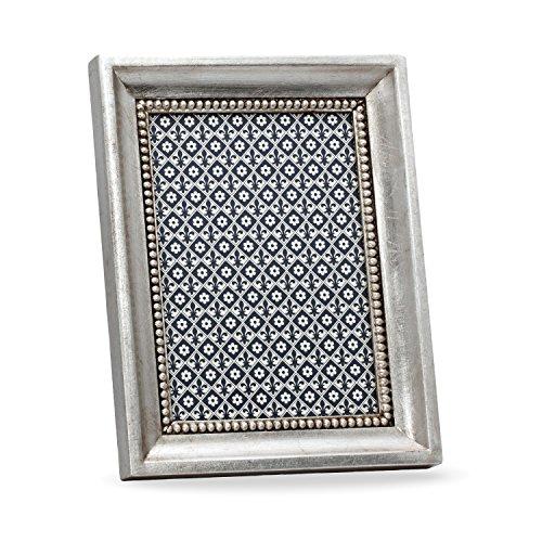 Altamura Bilderrahmen, Holzrahmen, Handgearbeitet in italienischem Stil, Fotorahmen, Fotogröße 10x15 cm,Geschenkbox, Silver (15x20 cm) - Italienische Holzrahmen