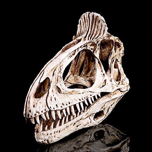 fenjinsheng Schädel Totenkopf Deko Skull Skulptur Deko Wohnzimmer Eiskamm-Hahnknochendinosaurierschädelmodellharz Macht Möbelkunst-Dekorations-Tierschädel In Handarbeit