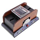 Homyl 2-Deck Automatische Kartenmischmaschine, Elektrisches Poker Kartenmischgerät für Casino