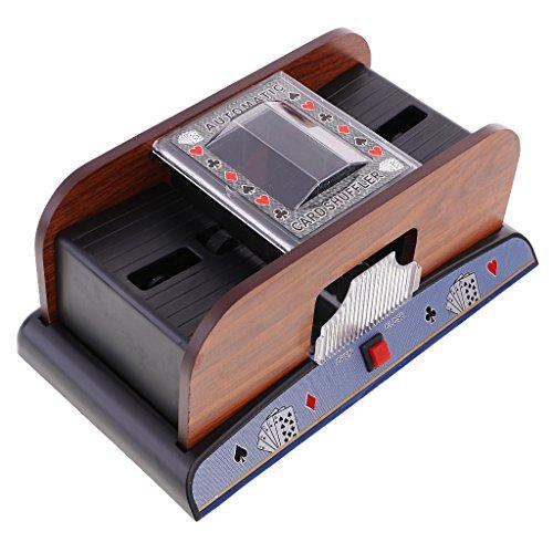 FITYLE Automatisches Kartenmischgerät Kartenmischmaschine Poker 2 Decks Kartenmischer Karten-Mischer