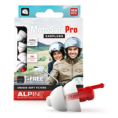 Alpine MotoSafe Pro Tappi per Orecchie - Tappi da Gara ed Escursioni -Previeni i danni alle orecchie quando guidi la moto - Senti i rumori dellastrada -comodo eriutilizzab