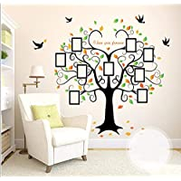 XIAOBAOZIQT Wall Sticker Decal Decals Family Tree Photo Frame Removable Wall Sticker Love Tree Love You Forever Bird Butterfly Decal