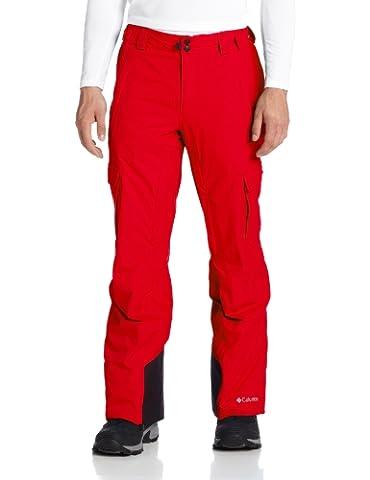 Columbia Men's Ridge 2 Run II Pant, Bright Red, XX-Large/Short