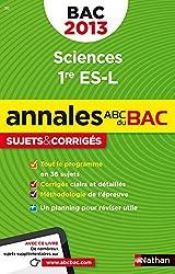 ANNALES BAC 2013 SCIENCES 1ERE