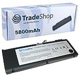 TradeShop Hochleistungs Li-Polymer Qualitäts Akku, 10,95V / 5800mAh / 64Wh für Apple MacBook Pro 15.4 Zoll 2011/2012 Core i7 ersetzt A1382 A1286 020-7134-A 661-5844