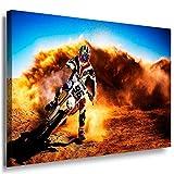 Motocross Leinwandbild LaraArt Bilder Mehrfarbig Wandbild 60 x 40 cm