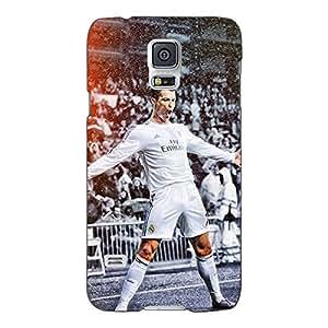 Jugaaduu Cristiano Ronaldo Real Madrid Back Cover Case For Samsung Galaxy S5