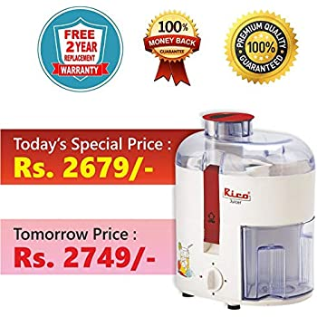 Rico juicers Fruits and Vegetables Electric 100% Copper Motor Japanese Technology European Design with 2 Year Guarantee juicer for Fruits and Vegetables ...