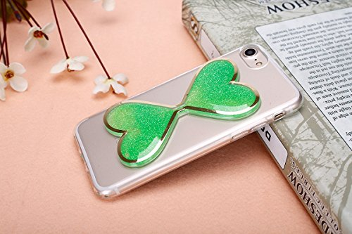 JAWSEU Coque Etui pour iPhone 6 Plus/6S Plus 5.5,iPhone 6S Plus Plastique Coque Ultra Slim,iPhone 6 Plus Hard Case Pailletee Bling Housse Etui,2017 Neuf Luxury Design Femme Homme Fashion Ultra Mince T Vert/flowing