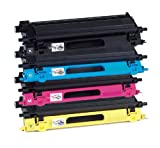 4x Eurotone Toner Cartridge TN130 TN135 Set für Brother DCP 9040 9042 9045 9440 9840 / HL 4040 4050 4070 / MFC 9440 9450 9840 – Alternative ersetzt TN 130 / TN 135