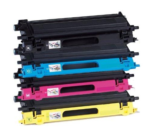 Preisvergleich Produktbild 4er Set Eurotone Premium Lasertoner TN-130 TN-135 für Brother DCP 9040 9042 9045 9440 9840 / HL 4040 4050 4070 / MFC 9440 9450 9840 - TN130 TN135 kompatibel - Black Cyan Magenta Yellow