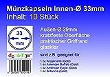 deaL-Toys 10 Münzkapseln 33mm, Geeignet für 1 oz Krügerrand (Gold), 1 oz American Buffalo (Gold)