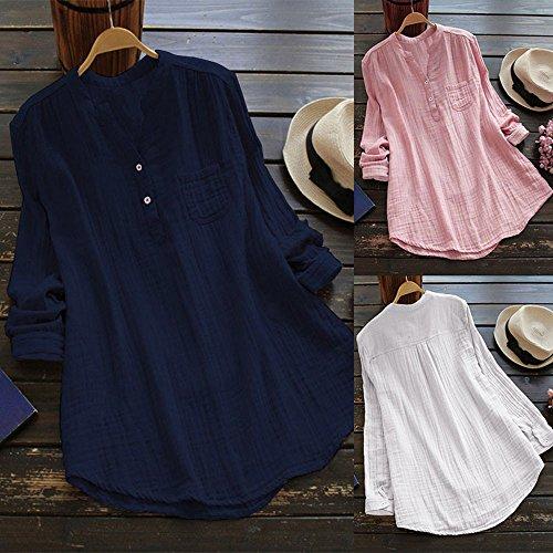 HUHU833 Women Tops, Women Stand Collar Long Sleeve Casual Loose Tunic Tops T Shirt Blouse