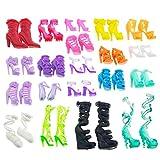 60 Paar verschiedene Stil Schuhe für Barbie Puppen dolls, Für Weihnachten & Geburtstag Geschenk