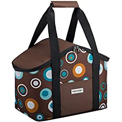 anndora Kühltasche 20 L braun hellblau Isoliertasche Einkaufstasche Thermotasche Picknick