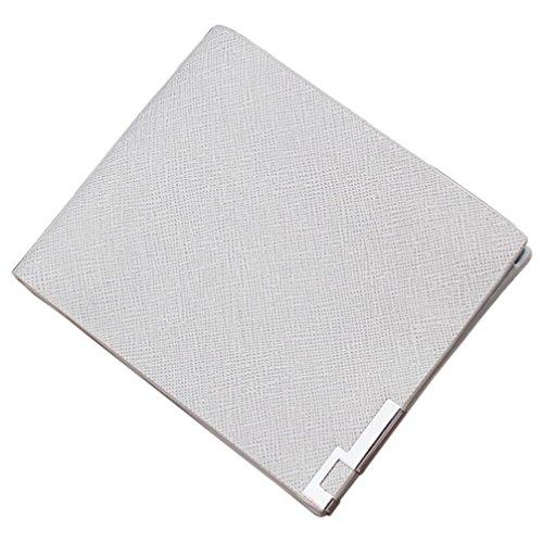 Saingace Männer Bifold Geschäfts-Leder-Geldbörsen-Geld-Karten-Halter-Münzen-Beutel-Geldbeutel-Geschenk Geldbörse Portemonnaie (Weiß) (Karten-halter-münzen-geldbeutel-beutel)