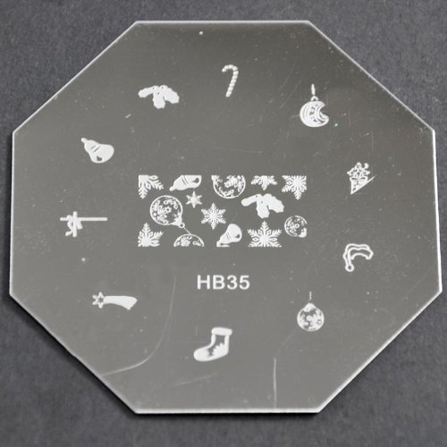 Nail Art emboutissage des tôles - HB35 CODE : HB35-plaque