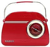 stylebox Barattolo di Latta Radio 27cm Rosso Biscottiera Deko Box Nostalgia Targa in Metallo