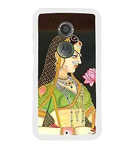 Fiobs Designer Back Case Cover for Motorola Moto X2 :: Motorola Moto X (2nd Gen) (Cute Girl Flower Garden)