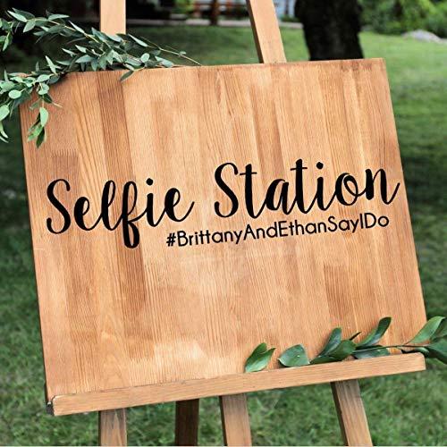 Dozili Personalisierbarer Selfie Station Party Hashtag Aufkleber über 30 Farben, Verschiedene Größen zur Auswahl