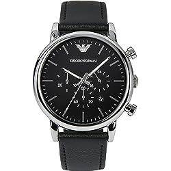 Emporio Armani Herren-Armbanduhr XL Chronograph Quarz Leder AR1828