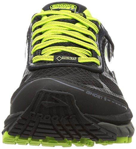 Brooks Ghost 9 Gtx, Chaussures de Course Homme, Black/Castlerock/Limepunch Multicolore (Black/castlerock/lime Punch)