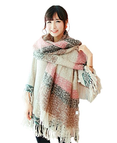 multicolored-checked-scarf-wraps-women-wool-spinning-tartan-shawl-scarves-long-pashmina-stolepink