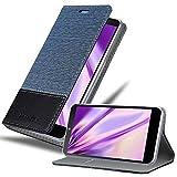 Cadorabo Custodia Libro per LG Nexus 5 in Azzurro Scuro Nero - con Vani di Carte, Funzione Stand e Chiusura Magnetica - Portafoglio Cover Case Wallet Book Etui Protezione